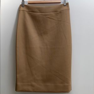 J. Crew No. 2 Pencil Skirt in Camel Wool NWT sz 4